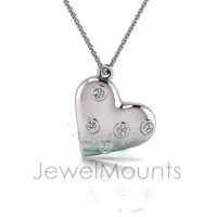 Two-Tone Bezel Heart Pendant - Click for more info