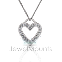 Bead Set Heart Pendant - Click for more info