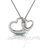 Two Tone Double Fluid Heart Pendant - Click for more info