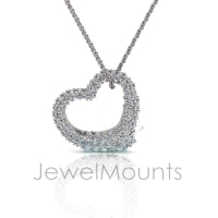 Pave Set Fluid Heart Pendant - Click for more info