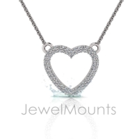 Pave Set Heart Pendant - Click for more info