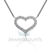 Claw Set Heart Pendant - Click for more info