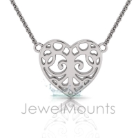 Filigree Heart Pendant - Click for more info