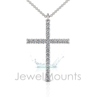 Claw Set Cross Pendant - Click for more info