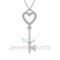 Pave Heart Pendant - Click for more info