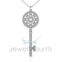 Floral Key Pendant - Click for more info