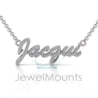 Order Jacqui or Request Custom Diamond Name Pendant - Click for more info