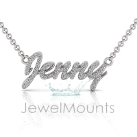 Order Jenny or Request Custom Diamond Name Pendant - Click for more info