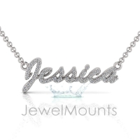 Order Jessica or Request Custom Diamond Name Pendant - Click for more info