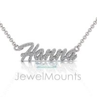 Order Hanna or Request Custom Diamond Name Pendant - Click for more info