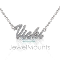 Order Vicki or Request Custom Diamond Name Pendant - Click for more info