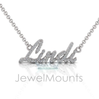 Order Lindi or Request Custom Diamond Name Pendant - Click for more info
