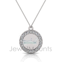 Circle Disk Pendant - Click for more info