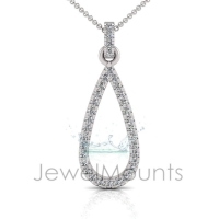 Diamond Pear Shape Pendant - Click for more info