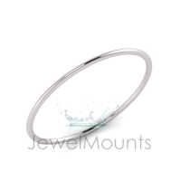 2mm Wide Half-Round Profile Bangle Size L - Click for more info