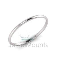 4mm Wide Half-Round Profile Bangle Size L - Click for more info