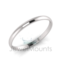 6mm Wide Half-Round Profile Bangle Size L - Click for more info