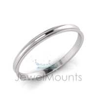 6mm Wide Concave Profile Bangle Size S - Click for more info