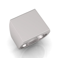 Gents Square Shaped Signet Ring - Click for more info