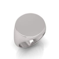 Gents Round Shaped Signet Ring - Click for more info