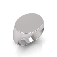 Gents Oval Shaped Signet Ring - Click for more info