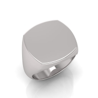 Gents Cushion Shaped Signet Ring - Click for more info