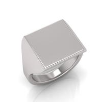 Ladies Square Shaped Signet Ring - Click for more info