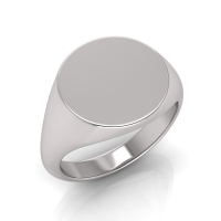 Ladies Round Shaped Signet Ring - Click for more info