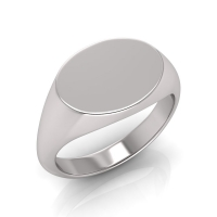 Ladies Oval Shaped Signet Ring - Click for more info