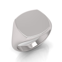 Ladies Cushion Shaped Signet Ring - Click for more info