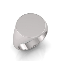 Gents Medium Size Round Shaped Signet Ring - Click for more info