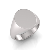 Gent Medium Size Oval Shape Signet Ring - Click for more info